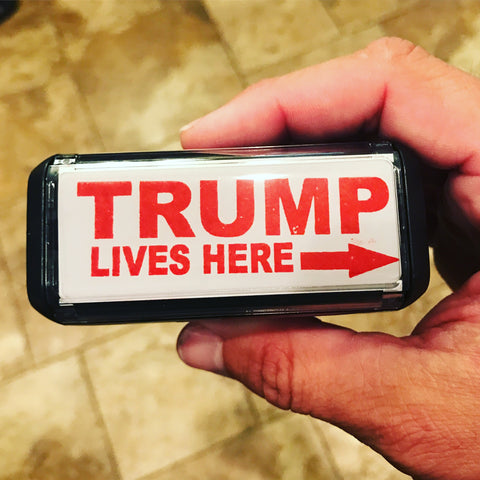 Trump Lives Here Stamp