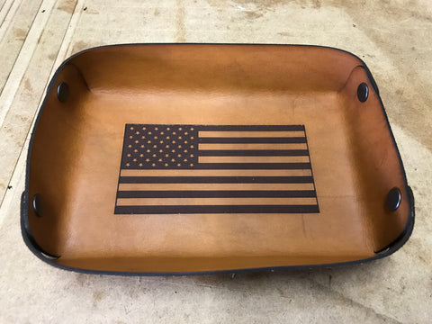 American Flag Valet Tray