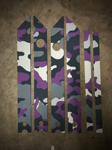 Purple Camo Rail Guards