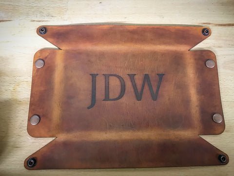 Valet Tray with Initals