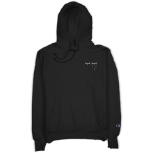 "Load image into Gallery viewer, ""Flower Logo"" Black Champion Hoodie"