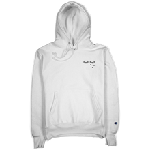 "Load image into Gallery viewer, ""Flower Logo"" White Champion Hoodie"