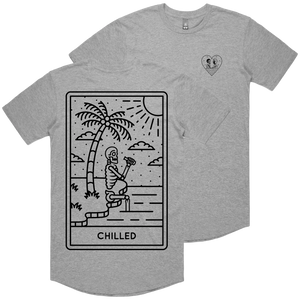 """Chilled"" Curve Hem Tee"