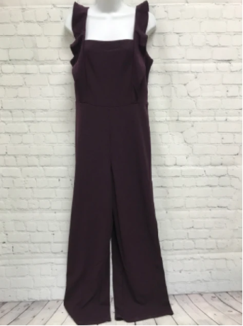 jumpsuit with ruffle straps