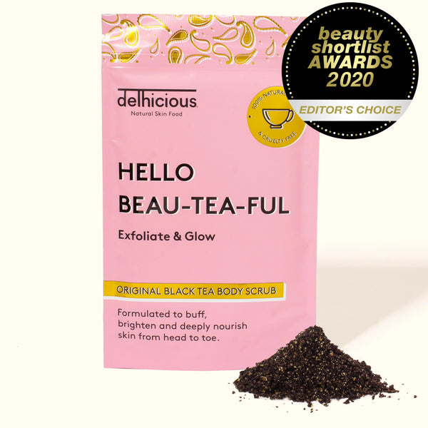 DELHICIOUS ORIGINAL BLACK TEA BODY SCRUB                                                             100g