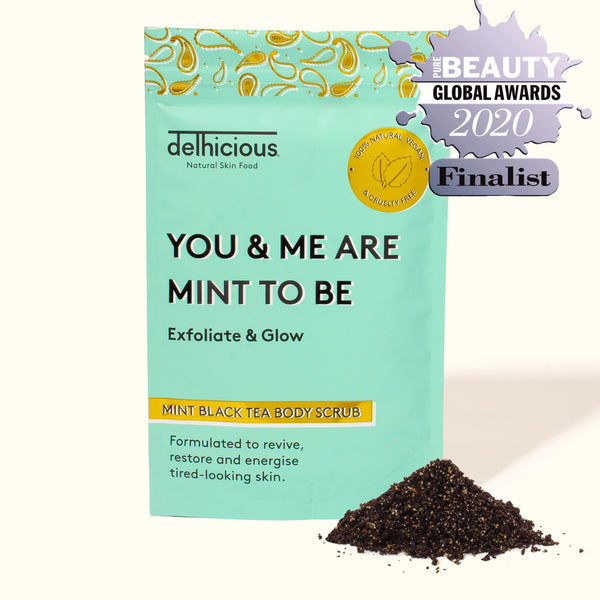 DELHICIOUS MINT BLACK TEA BODY SCRUB                                                                     100g
