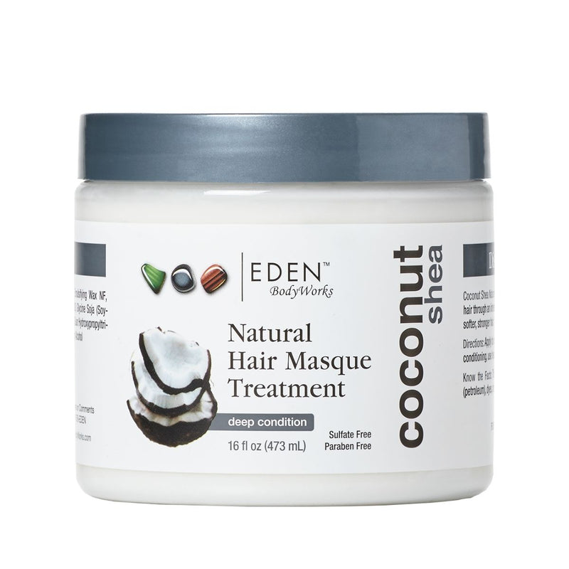 EDEN BODYWORKS COCONUT SHEA NATURAL MASQUE TREATMENT                                                                                                                                            473ml/16oz