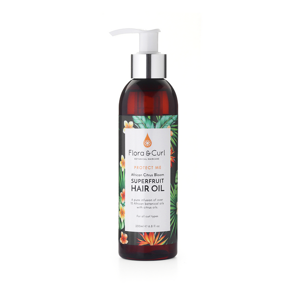 FLORA & CURL AFRICAN CITRUS SUPERFRUIT HAIR OIL                                                  200ml