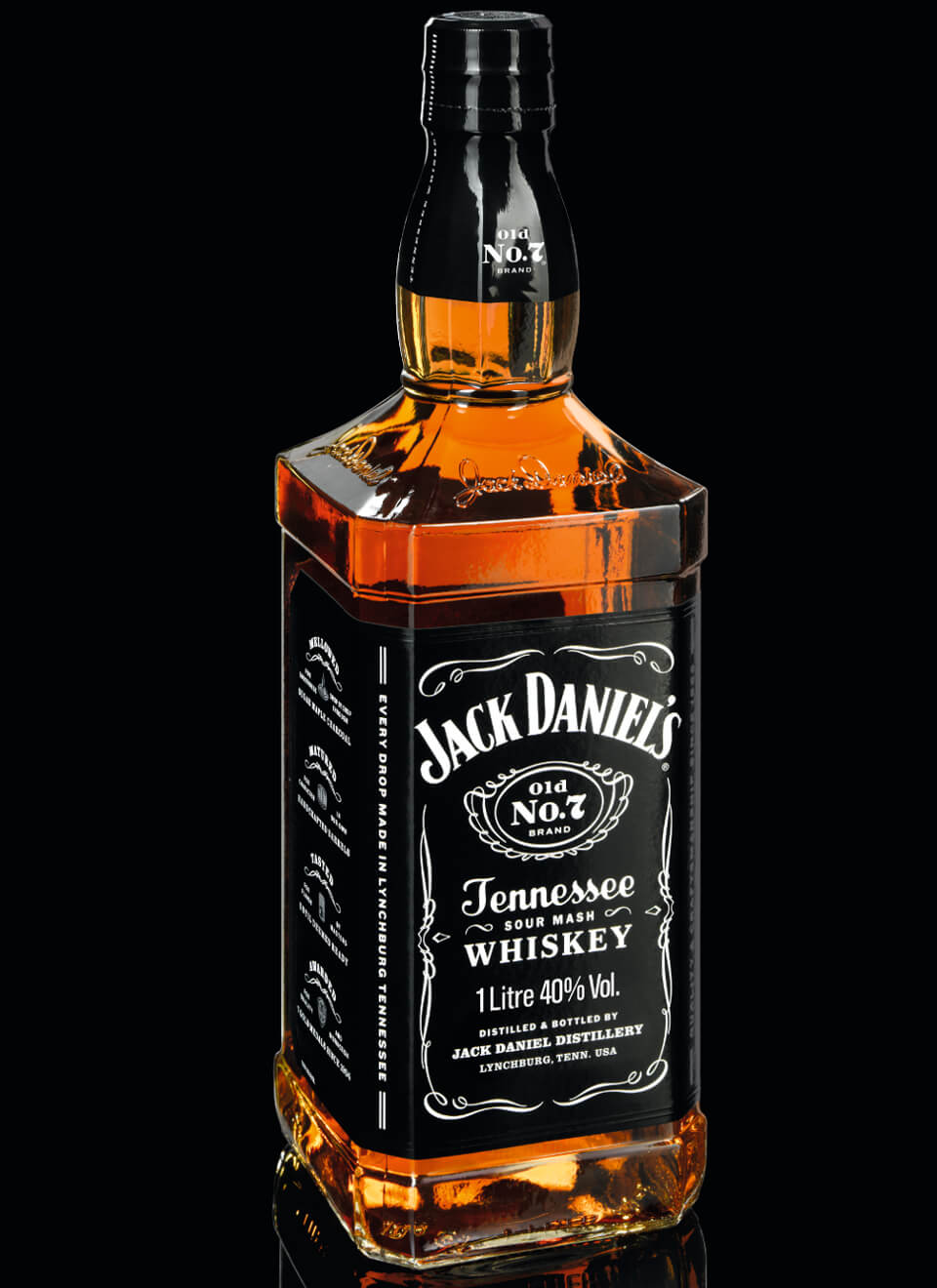 Jack Daniels Old No.7 Tennessee Whiskey 1 L