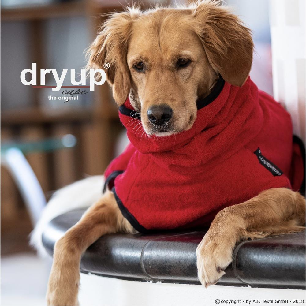 dryup cape Hundebademantel XXL Red Pepper