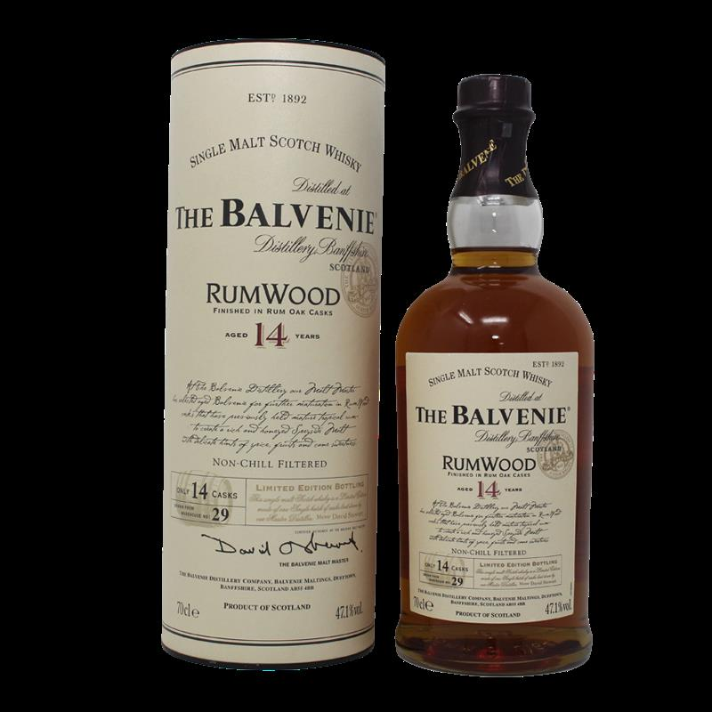Balvenie 14 Years Rum Wood Finished Single Malt Scotch Whisky  0,7L