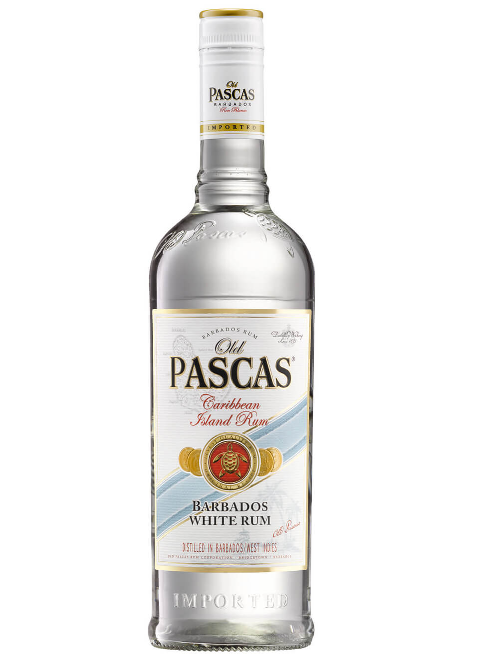 Old Pascas Barbados White Rum 1 L