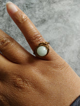 Load image into Gallery viewer, Antique Bronze Aquamarine Ring