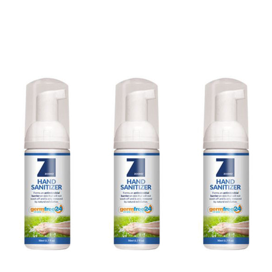 Zoono 50ml Germ Free 24 Hour Hand Sanitizer 3 X 50ml pack