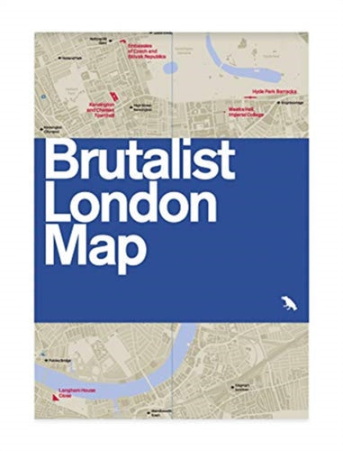Brutalist London Map-9780993193453