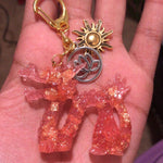 Golden Fire Dragon Keychain