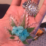 Blue Flower Keychain