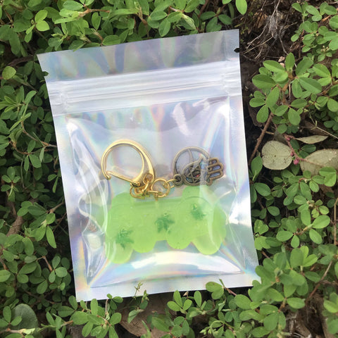 Green Gaming Stoner Keychain