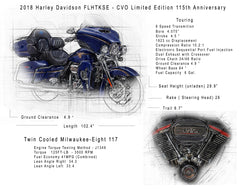 Harley Motorcycle drawing from your picture, guy gift idea