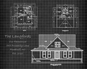 Blueprint Metal Art