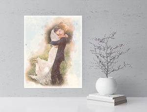 Watercolor Metal Art Prints