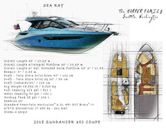 Boat drawing from your photo, dad gift, grandpa gift