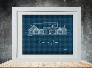 Blueprint Framed Prints