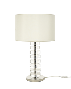 Table Lamp Glass Body White Shade