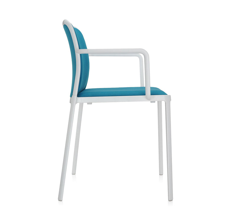 Audrey Soft Armchair White - Teal (Set of 2)