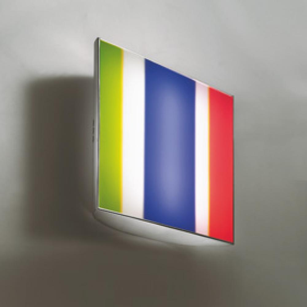 GO TO THE MIRROR Wall Light chromed steel with mirror finish & coloured filters