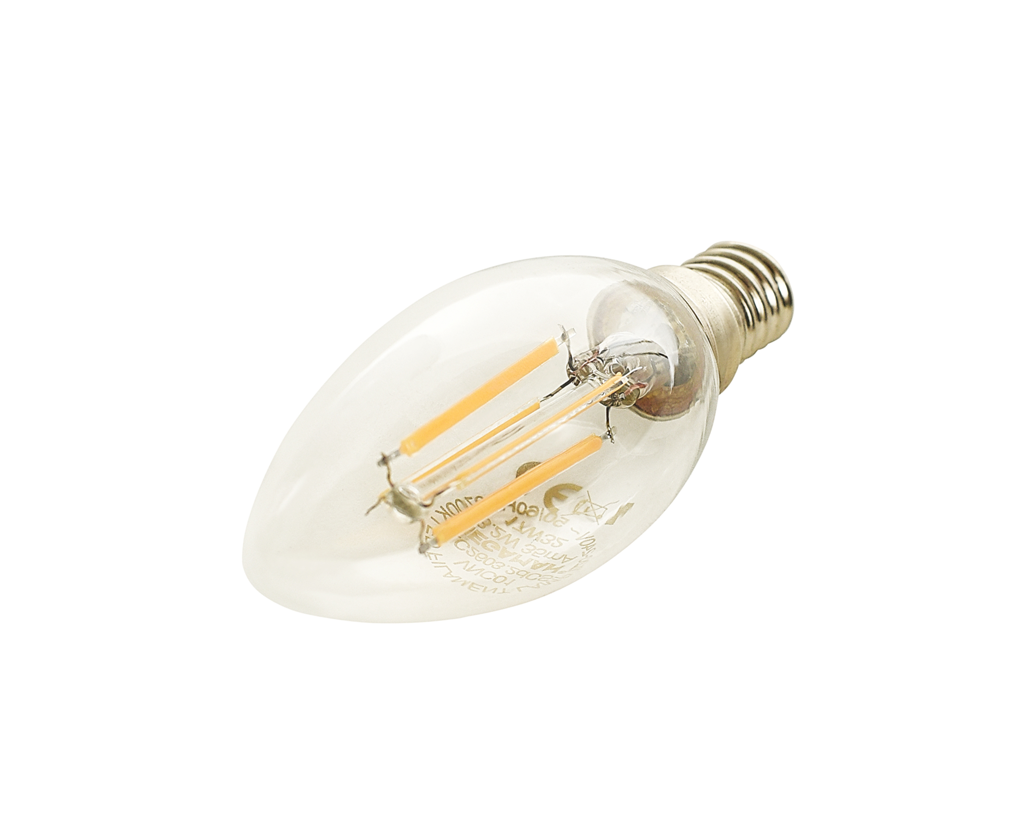 C35 Candle Clear 4W 2700K E14 CRI80 320lm Filament LED Bulb