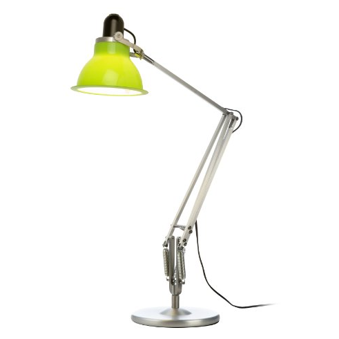 Type 1228 Silver with Table Lamp and Lime Green Ambient Shade
