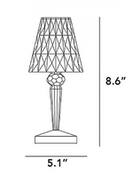 Load image into Gallery viewer, Battery Table lamp Crystal