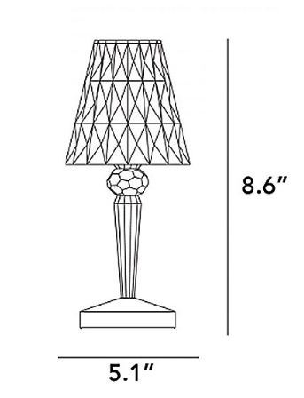 Battery Table Lamp Plum