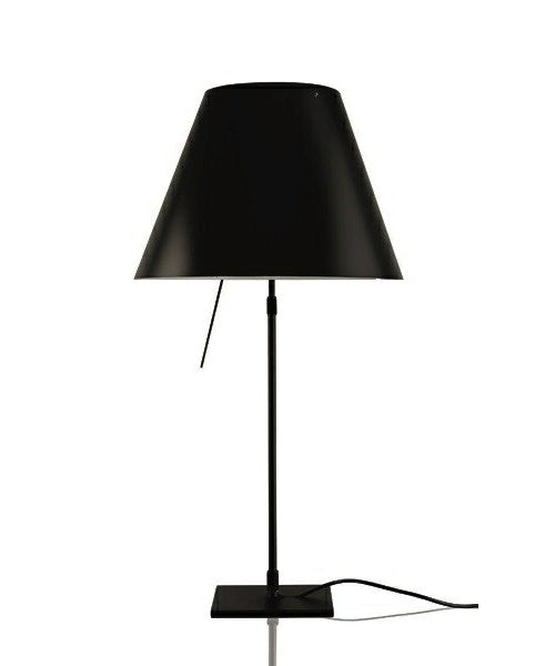 COSTANZINA TABLE LAMP body black and  Liquorice Black Lampshade finish