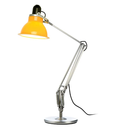 Type 1228 Silver with Table Lamp and Yellow Shade