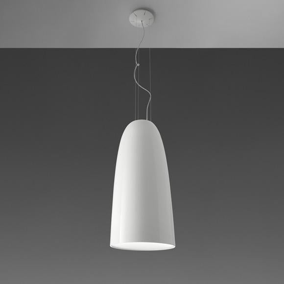 NUR 75 GLOSS WHITE SUSPENSION LAMP