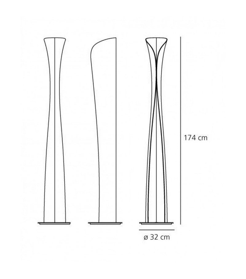 Cadmo Led Floor Lamp Black