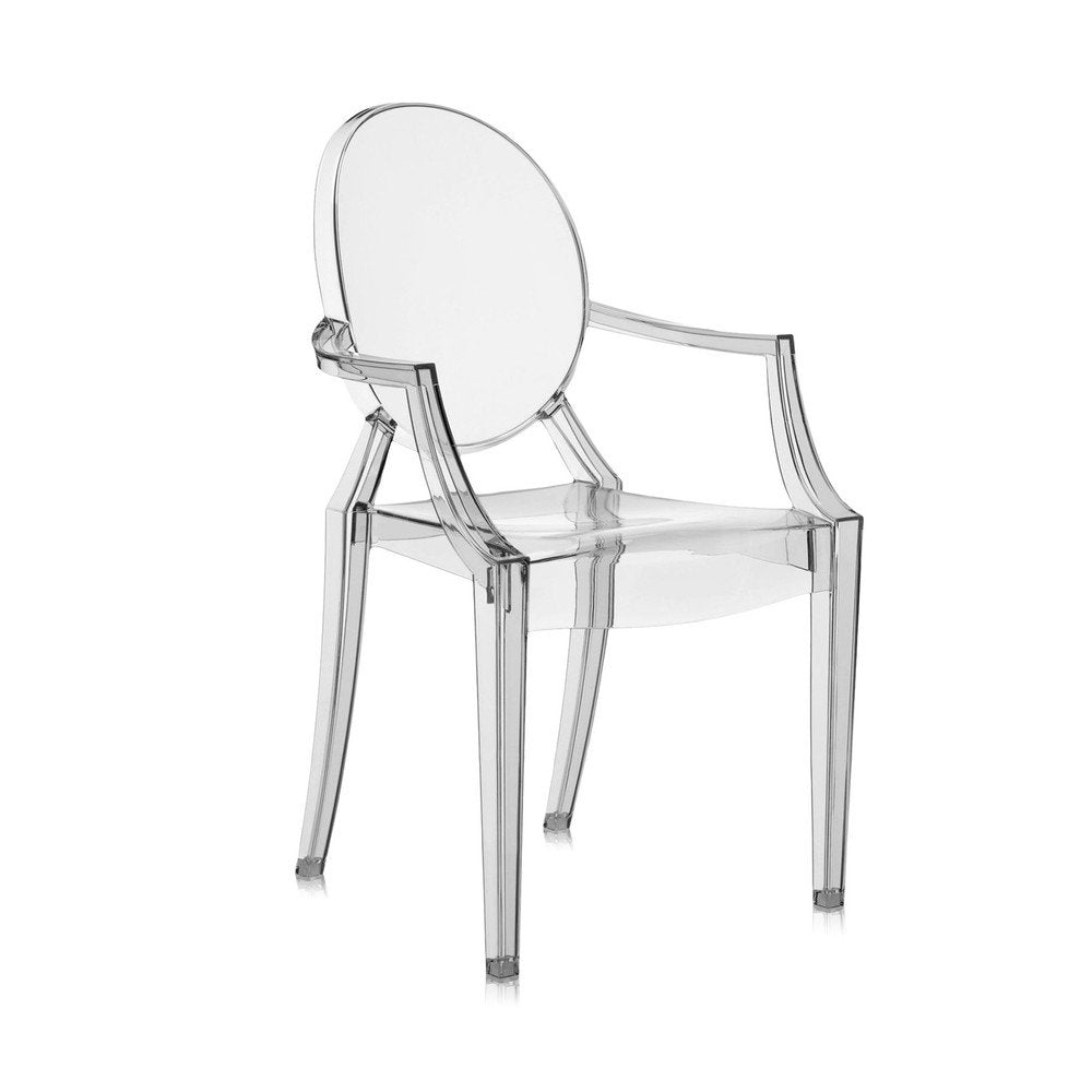 Louis Ghost Chair Smoke Grey (Set of 2)