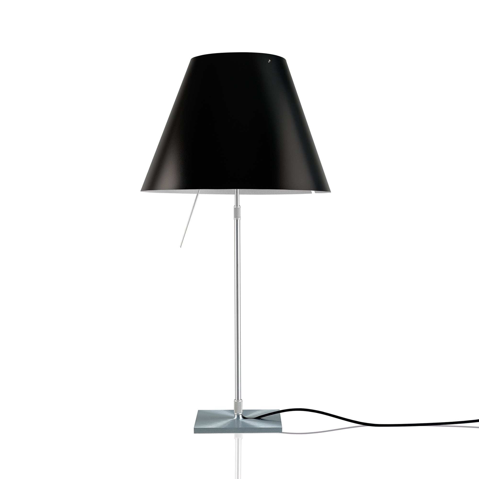 COSTANZA TABLE LAMP body with on/off switch alu and Black Lampshade finish