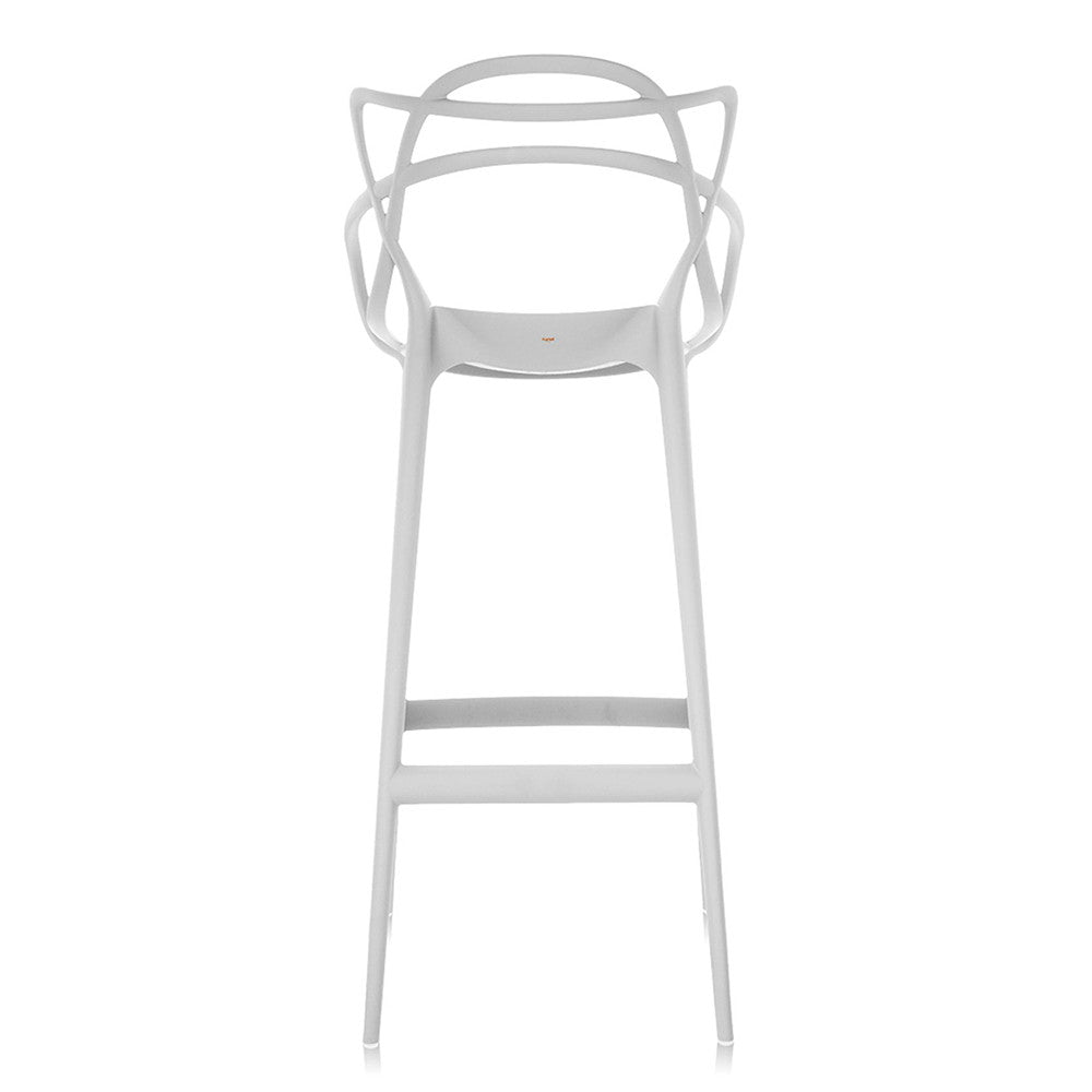 Masters Stool Chair - White - 75cm