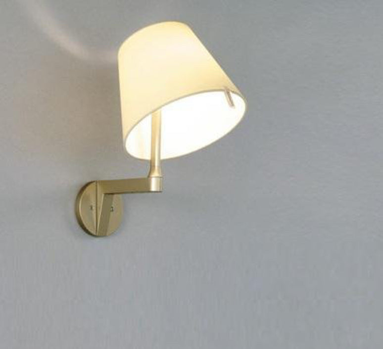 Melampo Wall Lamp Bronze, with switch
