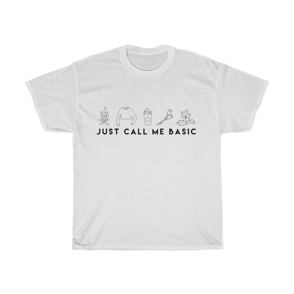 Call Me Basic T-shirt (Black Script)