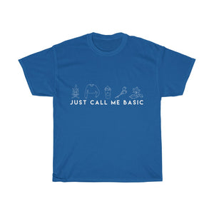 Call Me Basic T-shirt (White Script)