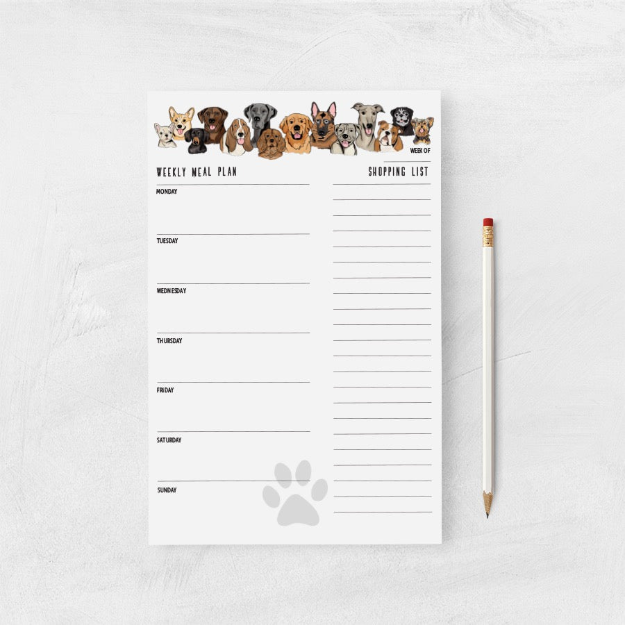 Shopping List/Meal Planner- Must Love Dogs