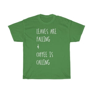 Leaves Are Falling T-shirt (White Script)