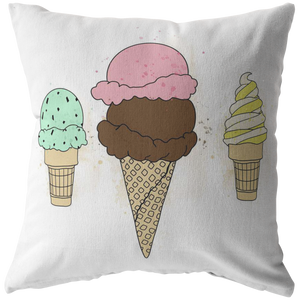 Ice Cream Pillow Case