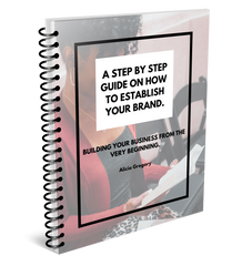 """A Step by Step Guide on How To Establish Your Brand"" E-Book"
