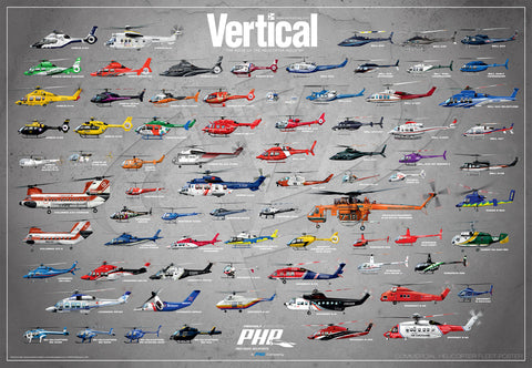 Vertical's Global Commercial Helicopter Fleet Poster