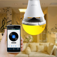Load image into Gallery viewer, SweetLF Bluetooth LED Bulb with Speaker, Color Changing Adjustable Brightness Compatible with IOS / Android Controlled by APP